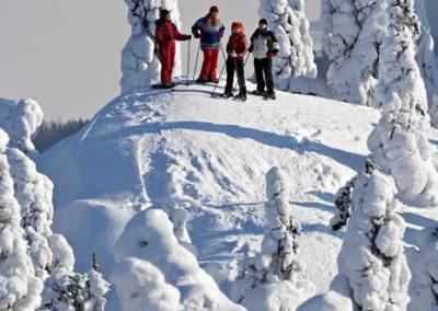 Snowshoeing-on-the-Koli-hill